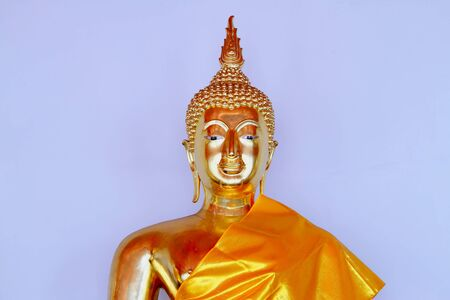 Statue face buddha beautiful with golden at Wat Pho temple, Bangkok, Thailand  photo