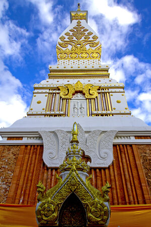 dyllic: Chedi Prathat Panom with sky, at Nakornpanom province, northeastern of Thailand  Stock Photo
