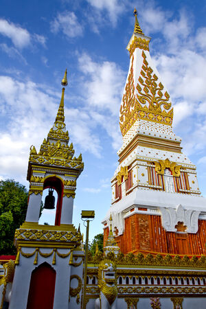 dyllic: Chedi Prathat Panom, at Nakornpanom province, northeastern of Thailand