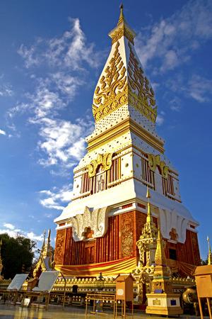 dyllic: Wat Prathat Panom, at Nakornpanom province, northeastern of Thailand