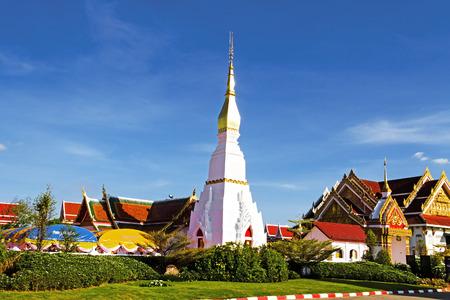 chum: Idyllic Wat Pra That Choeng Chum Worawihal temple ,Sakon Nakhon Province , northeastern of Thailand.