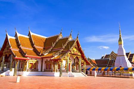 prov�ncia: Wat Pra Esse templo Choeng Chum Worawihal, Sakon Nakhon Prov Banco de Imagens