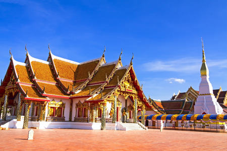 northeastern: Wat Pra That Choeng Chum Worawihal temple ,Sakon Nakhon Province , northeastern of Thaila