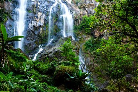 klong: Klong Lan waterfall at Kampheang Phet, National park of Thailand