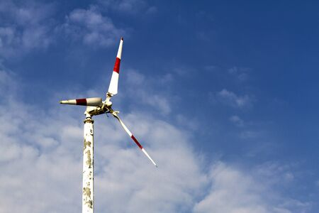 natural energy: The turbine natural energy with sky at Bang Pu Seaside of Thailand