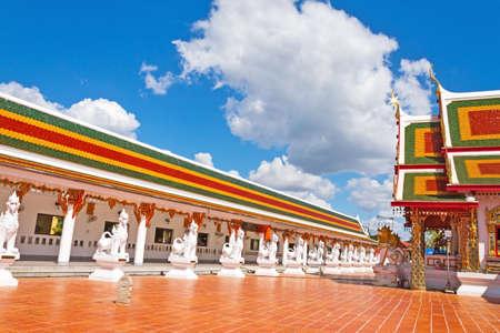 pra: Beautiful church with cloud sky at Wat Pra That Choeng Chum, Sakon Nakhon Thailandlnd