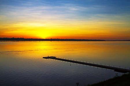 dawning: Dawning sunrise at  Mekong River, Mukdahan county,Thailand