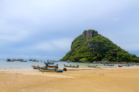 hua: The beach Bang Boet Beach, island It the rain Chumphon Province Thailand is famous for travel Stock Photo