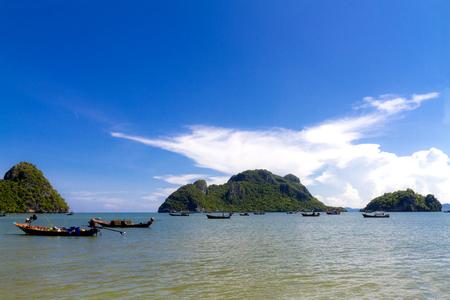 Beach Baan Koh Teap beach and blue sky at Chumphon Province Thailand is famous for travel