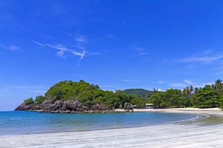 Beach idyllic with blue sky at Thang lang beach in Prachap Kirikhun Province Thailand