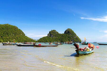 Beach and sky at Baan Koh Teap beach Chumphon Province Thailand is famous for travel