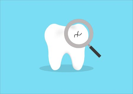 action character of decayed tooth on isolated background