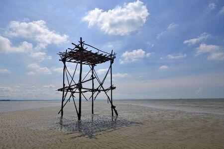 Clear sky,beautiful sea,long beach at Ra yong,Thailand