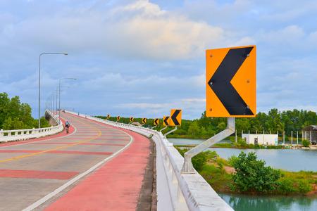 Travel on Prasaesin bridge on aclear day