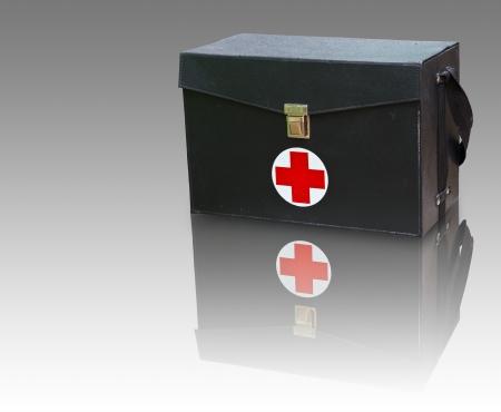 botiquin primeros auxilios: Kit de primeros auxilios Caja Foto de archivo