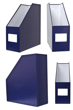 magazine holder each side, isolated on white photo