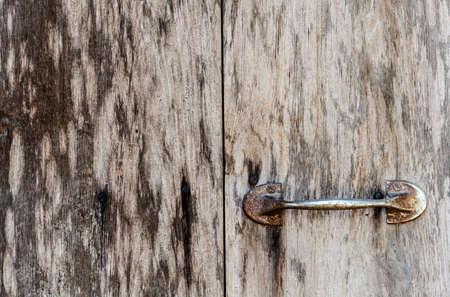 crossbar: Old wooden door in thailand