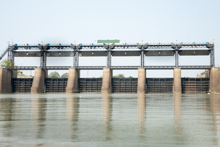 vi: RAMA VI dam is the first dam in Thailand Stock Photo