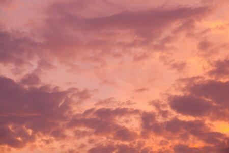 pink sunset: pink sunset sky. Beautiful sky.