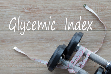 Concept  Glycemic Index and against healthy.