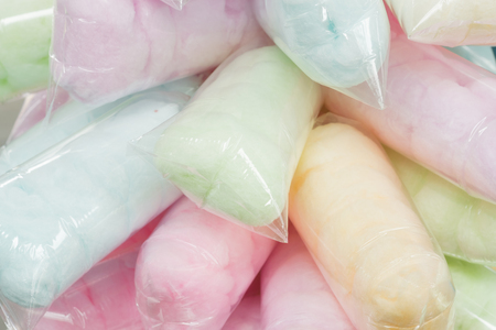 Cotton Candy (Saimai) is Thai-style candy. Imagens
