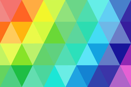 abstract triangles rainbow gradient for background. geometric style