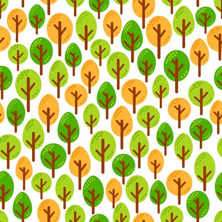Trees pattern design illustration