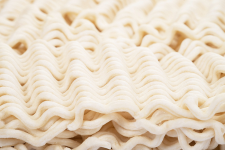 Instant noodles isolated on white background Stock Photo