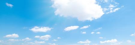 Beautiful blue sky cloudsfor background. Panorama of sky. Stock Photo