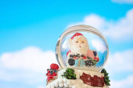 Santa in crystal ball, Christmas concept. Stock Photo