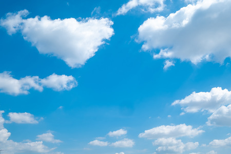 Beautiful blue sky clouds for background. Stock Photo