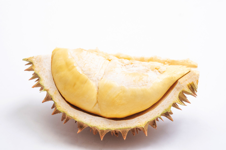 Durian, King of fruits, durian on white background. 스톡 콘텐츠