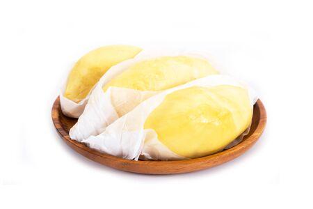 Durian, King of fruits, durian on white background. Stok Fotoğraf