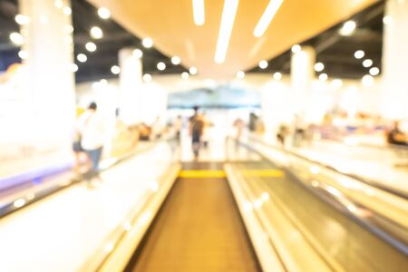 Shopping mall abstract defocused blurred background. Business concept. Beautiful bokeh.