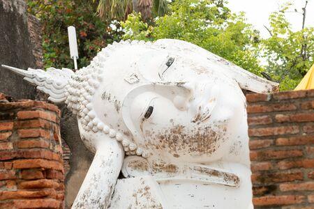 Wat Yai Chai Mongkhon temple in Ayutthaya, Thailand Фото со стока