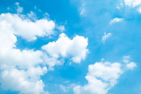 Beautiful blue sky clouds for background. Imagens - 133374712