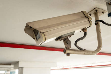Close-up Closed circuit camera or Closed-circuit television (cctv) recording important events.