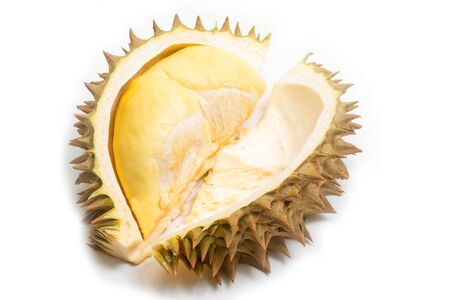 Durian, King of fruits, durian on white background. Фото со стока