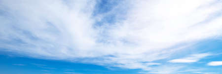 Beautiful blue sky cloudsfor background. Panorama of sky. Imagens