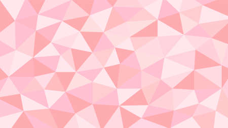 Pink and orange soft pastel color gradient abstract geometric triangular polygon style. Graphic background. abstract polygon background. Stock Illustratie