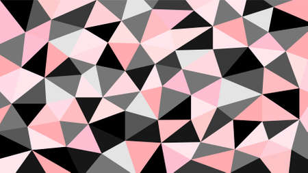 Black gray pink and orange soft pastel color gradient abstract geometric triangular polygon style. Graphic background. abstract polygon background.