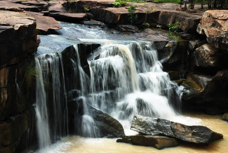 Waterfall in Tat Ton National Park 1 Stock Photo - 7450251