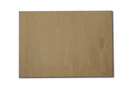 Brown Envelope document on white background Stock Photo - 8554793