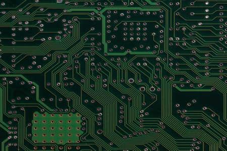 Close up detail green circuit board Stock Photo - 8838141