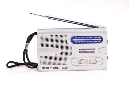 radio set isolated on white background  Stock Photo