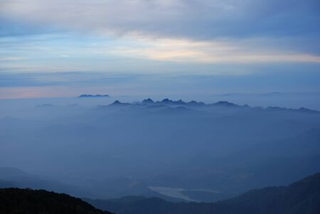 Morning Mist at Tropical at sunrise, Chiangmai,Thailand Stock Photo - 8852274