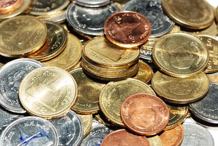 tresure: coin money background of thai bath