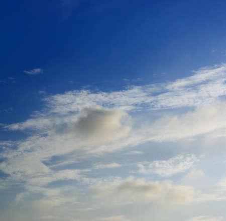 Blue sky and white cloud background Stock Photo - 9052790