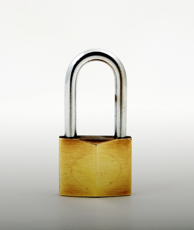 Open Padlock, isolated on white background  photo