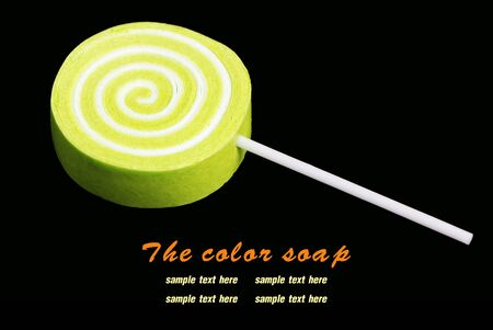 The candy color soap on background
